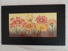margaritas pintadas a mano sobre ceramica