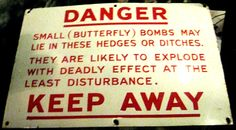 World War Two sign from the York Castle Museum.