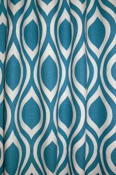 "CURTAIN DRAPERIES Turquoise - Two Curtain 50"" Wide by up to 84"" Long each - Emily - Slub Drapery Fabric in Aquarius on Etsy, $114.00"