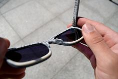 Sunglasses made out of worn out jeans and reclaimed books! #upcycling