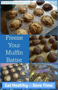 Freezing Muffin Batter for Quick Breakfasts and Snacks - Heavenly Homemakers Gourmet Recipes, Real Food Recipes, Yummy Food, Simple Recipes, Drink Recipes, Yummy Recipes, Batch Cooking, Freezer Cooking, Cooking Tips