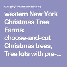 western New York Christmas Tree Farms: choose-and-cut Christmas trees, Tree lots with pre-cut trees, stands, sleigh rides, hay rides and related winter events and fun!