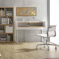OSLO, Bureau à double plateau, aux lignes épurées - designer : NÁDIA SOARES