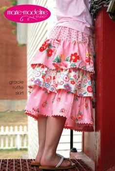 Gracie Ruffle Skirt MO 69 Marie Madeline- Sewing Pattern. $11.49, via Etsy.