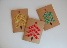 New Simple Christmas Tree Card Washi Tape 41 Ideas Christmas Arts And Crafts, Christmas Tree Cards, Noel Christmas, Christmas Gift Tags, Simple Christmas, Handmade Christmas, Tape Crafts, Christmas Crafts, Preschool Christmas