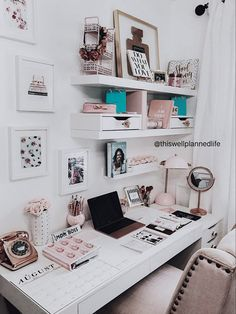 A few touches of colour in your home office in curtains, soft furnishings or artwork can personalise the space and remind you that you are the boss of your own venture. Bedroom Decor For Teen Girls, Teen Room Decor, Room Ideas Bedroom, Home Office Decor, Home Decor, Study Room Decor, Cute Room Decor, Aesthetic Room Decor, Dream Rooms