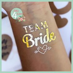 Unique metallic flash tattoo DIY ideas and designs | team bride tattoo bachelorette party idea
