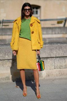 Giovanna Battaglia arrives at Nina Ricci show as part of the Paris Fashion Week Womenswear Spring/Summer 2018 on September 29 2017 in Paris France