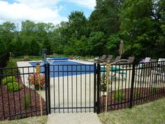 I like that there is a fence surrounding the pool to keep animals, kids, etc. out.