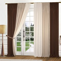 brown and red curtains - Google Search