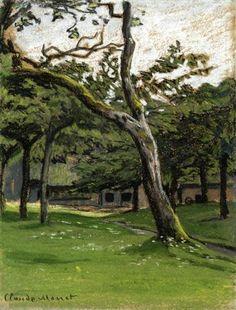Norman Farm through the Trees - Claude Monet