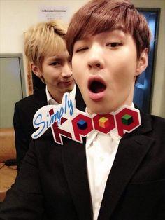 Eunkwang and Changsub #SimplyKpop ♡