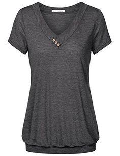 Women Tunic Tops,Messic Women's V Neck Solid Short Sleeve... https://www.amazon.com/dp/B06WGM3MW9/ref=cm_sw_r_pi_dp_x_HcDPybV2H6RWB