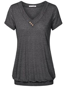 Women Tunic Tops,Messic Women's V Neck Solid Short Sleeve... https://www.amazon.com/dp/B06WGM3MW9/ref=cm_sw_r_pi_dp_x_HcDPybV2H6RWB