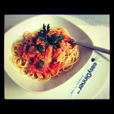 Espaguetis con Salsa de Zanahorias