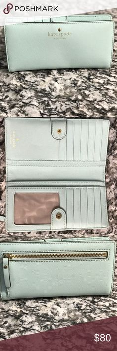 🌷Kate Spade Wallet🌷 Wallet is in great condition. Easy to open and close when you're running errands and in a rush to get out of the store. Any wear and tear of the wallet is shown. No trades please. Also, feel free to ask for more photos. 100% authentic. kate spade Bags Wallets