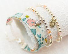 Liberty Silver Bracelet Trio - Porcelain Betsy