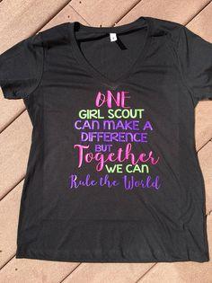 One Girl Scout Shirt Girl Scout Leading Shirt Girl Scout Scout Mom, Girl Scout Swap, Girl Scout Leader, Daisy Girl Scouts, Girl Scout Troop, Cub Scouts, Brownie Girl Scouts, Girl Scout Cookies, Girl Scout Shirts