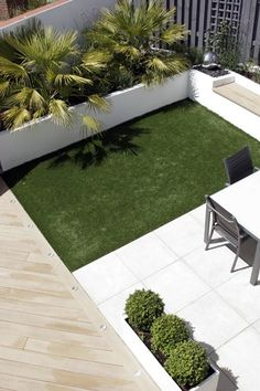 small grass courtyard design - Google Search