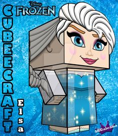 Elsa From Disney's Frozen cubeecraft 3D by SKGaleana.deviantart.com on @DeviantArt