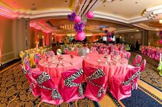 Party decorations for Quinceanera,girl Birthdays in zebra animal print .Wow party-decorations