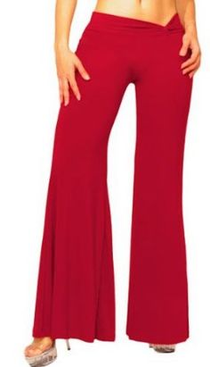 Slinky Palazzo Pants with Chic Twist Waistband from Hot Fash Pants - EXODUS Red Hot Fash. $32.99