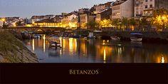 Panorámica del Puente Viejo sobre el Río Mandeo, Betanzos. La Coruña, España