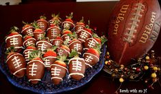 """FOOTBALL"" Chocolate Covered Strawberries Recipe"
