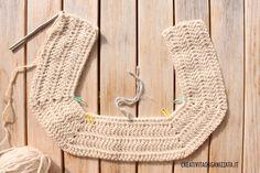 inizio cappottino con tecnica top down Crochet World, Accessories, Fashion, Crochet Batwing Tops, Tricot, Alphabet, Sacks, Moda, Fashion Styles