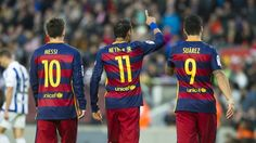 Messi, Neymar and Suárez were unstoppable in Leo Messi, Neymar Jr and Luis Suárez are top 3 players, according to l'Equipe. The blaugrana trident heads the list determined by the French newspaper's 19 sportswriters. Barcelona Team, Fc Barcelona Neymar, Barcelona Party, Neymar Jr, Barca Team, Dani Alves, David Villa, Good Soccer Players, Professional Football