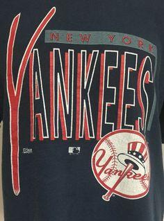 Vintage New York Yankees Large Short Sleeve Tee T-Shirt #SalemSportswear #NewYorkYankees