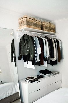 Open Wardrobe, Wardrobe Closet, Closet Bedroom, Closet Doors, Small Bedroom Wardrobe, Folding Wardrobe, Closet Clothing, College Wardrobe, Clothing Racks