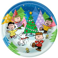 Peanuts Christmas Dinner Plates @ niftywarehouse.com #NiftyWarehouse #Peanuts #CharlieBrown #Comics #Gifts #Products