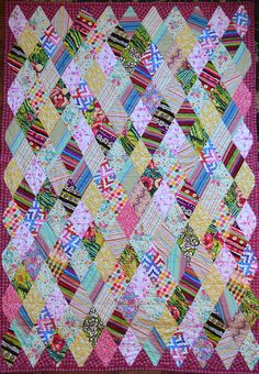 Marquee Diamonds Extra Long Twin Quilt by SeasonOfTheStitch, $585.00