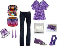A little purple, created by launched-out on Polyvore