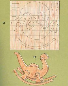 Dinosaurio balancín - Esquema