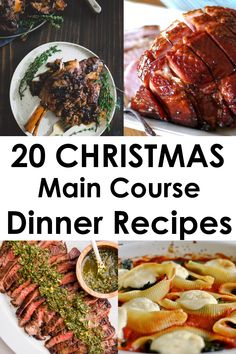 20 Christmas Main Course Dinner Ideas - Thoughts Above - - Are you hosting Christmas Dinner and aren't sure what to serve for the main course? Check out this list of 20 Christmas Food Dinner Main Courses! Christmas Entrees, Christmas Recipes Dinner Main Courses, Christmas Main Dishes, Easy Christmas Dinner, Christmas Party Food, Holiday Dinner, Holiday Recipes, Christmas Breakfast, Christmas Holiday