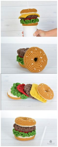 Hamburger Straw free crochet pattern.