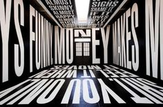 A 2011 installation by Barbara Kruger on power and money at the Los Angeles gallery L Arts. (L Arts / July 15, 2012)