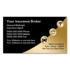 insurance business cards templates  224 best Auto Agent Business Cards images on Pinterest in 2018 ...