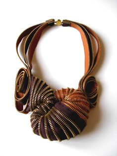 $325\ zipper necklace\  awesome etsy shop\ReborneJewelry