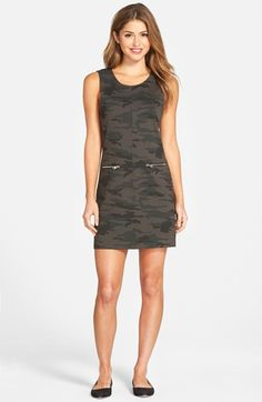 Sanctuary 'Mod Molly' Camo Print Shift Dress available at #Nordstrom