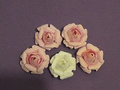 small rose using Tim Holtz tattered floral die