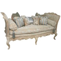 luxury taupe provincial french daybed