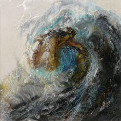 "Lia Melia; Paint 2013 Painting ""Ancient Seas"""