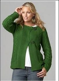 Modelo saco de lana.