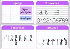 affichage écriture Letter Games, Letter Formation, Help Teaching, Teaching French, Classroom Displays, School Classroom, Kids Learning, Homeschool, Writing
