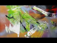 Learn To Paint Airy Abstract Painting With Acrylic Spray And Scrapers (HD). By Jan van Oort - YouTube