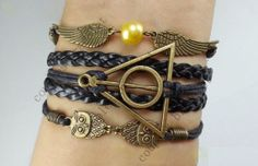 angel wings braceletowl braceletDeathly Hallows by couplesbracelet, $5.99
