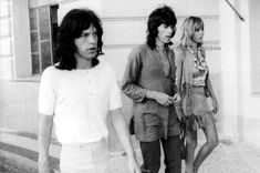 Anita Pallenberg, Keith Richards and Mick Jagger in Brazil, 1968